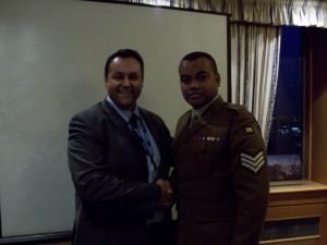 Fiyaz Mughal and Sergeant Johnson Beharry